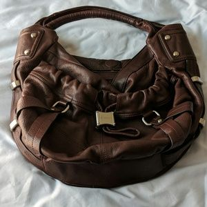 Dark chocolate leather purse. Great condition.